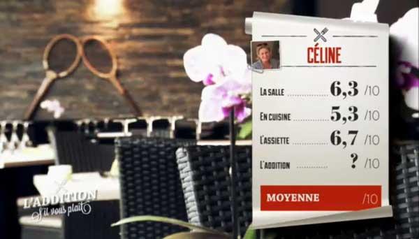 Les notes de Céline dans l'addition s'il vous plait : Alexandre a été le plus sévère