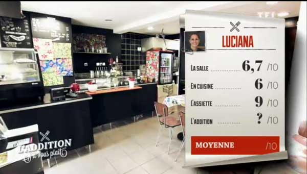 Les notes du restaurant de Luciana dans l'#additionSVP