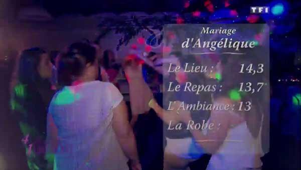 Les notes du mariage d'Angélique et Christophe o = > qui est la gagnante de 4 mariages pour une lune de miel ?