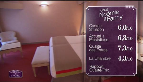 Les notes de l'hôtel de Noémie et Fanny sanctionnées pour la chambre