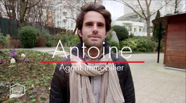 Antoine le retour sur M6 dans Chasseurs d'appart