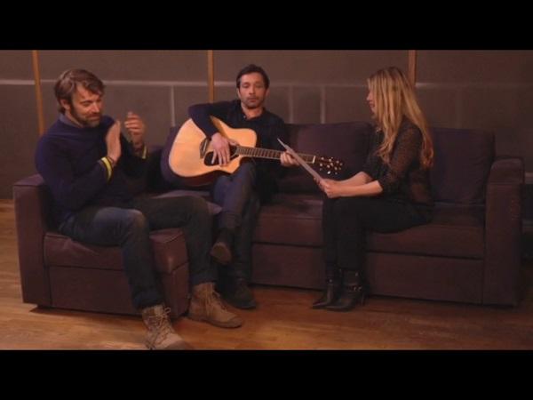 Christian, Nicolas et Hélène au studio dans #LMDLA