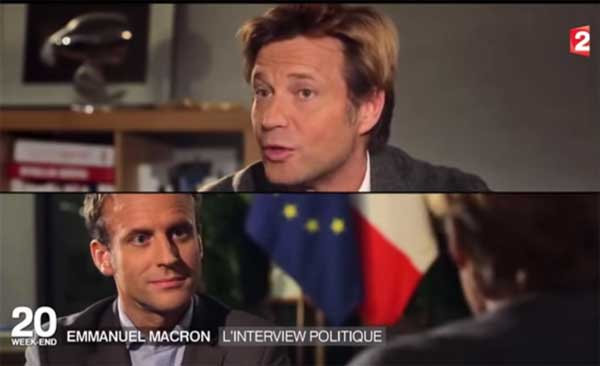 Macron vs Delahousse le match des beaux gosses au JT de France 2 le 10/04/2016