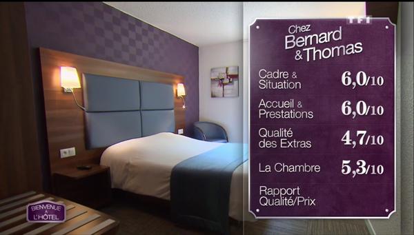 Les notes de Bernard et Thomas dans Bienvenue à l'hôtel