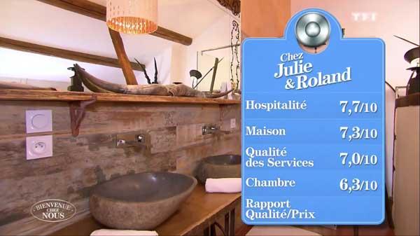 Les notes de la maison d'hôtes de Julie et Roland sur TF1