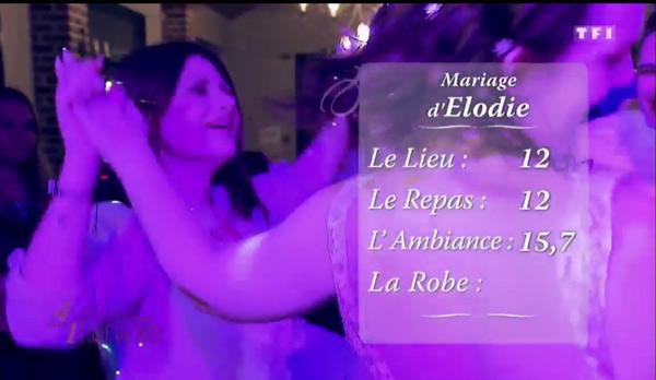 Le mariage d'Elodie et Frederic reçoit de très bonnes notes