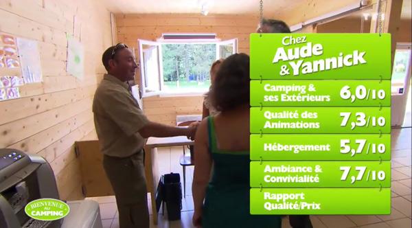 Les notes d'Aude et Yannick dans Bienvenue au camping