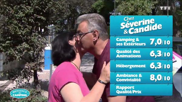 Les notes de Séverine et Candide dans Bienvenue au camping sur TF1