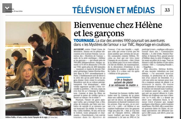 Hélène dans Le Parisien : les coulisses de tournage, la carrière des acteurs