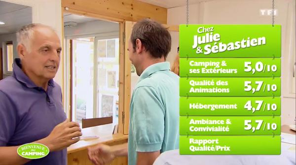 Julie et Sébastien peuvent-ils gagner Bienvenue au camping avec leur camping ?