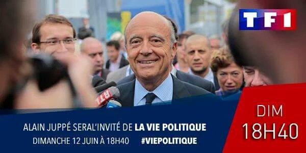Alain Juppé dimanche soir sur TF1 pour la 1ère de Vie politique : qu'en pensez vous ?
