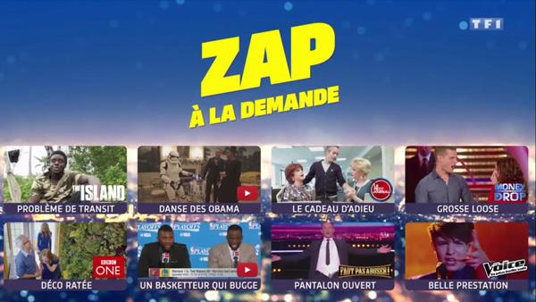 Le Zap à la demande des extraits rigolos sélectionnés par l'hebdo show