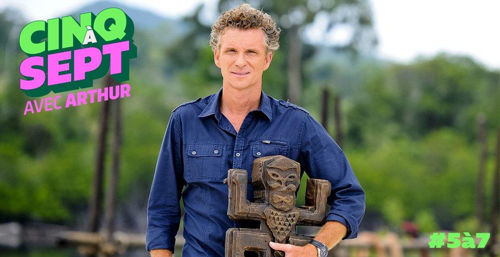 Denis Brogniart en promo TF1 dans le #5a7avecArthur