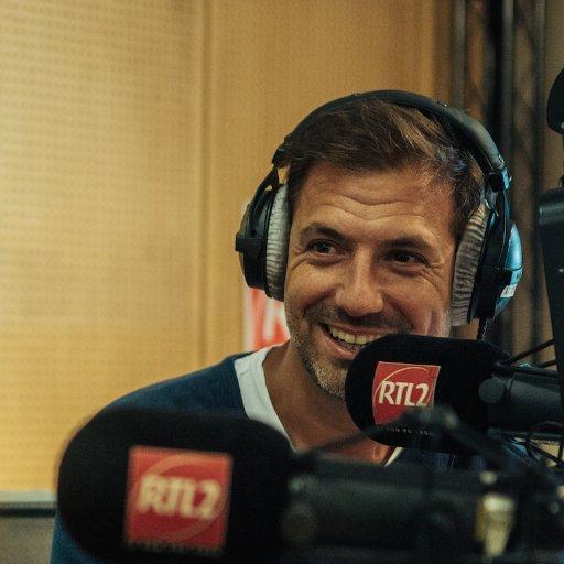 Matinale RTL 2 de septembre 2016 avec Grégory Ascher et Arnaud Tsamère un duo surprenant et inédit.  / Photo twitter