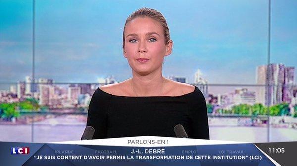 Hortense Villate à la matinale de lCI