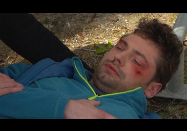Hugo qui bosse au watersport s'est fait agressé