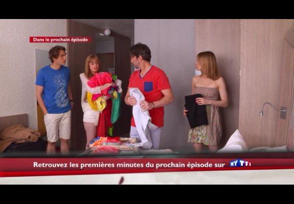 Mélanie est toujours là : avec Chloé, Sylvain et Christian !