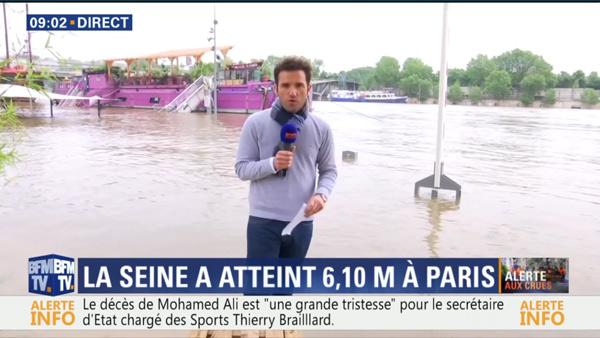 Marc Hay sur BFMTV : Mr météo sur le terrain des inondations