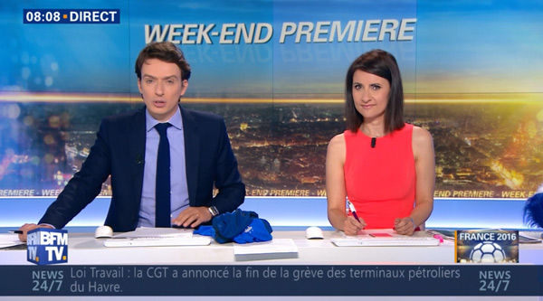 Sandra Gandoin et Benjamin Dubois dans BFMTV Matinale week end le duo choc