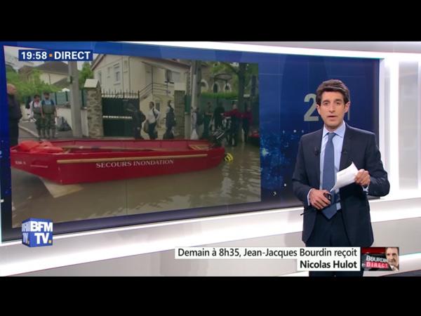 Thomas Misrachi joker d'Alain Marschall et Olivier Truchot mais surtout journaliste pour 7 jours BFM chaque samedi