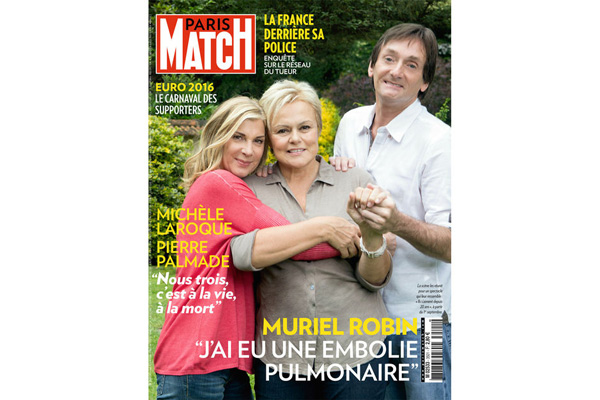 iNTERVIEW de Muriel Robin dans Paris Match le 23 juin sur son embolie pulmonaire