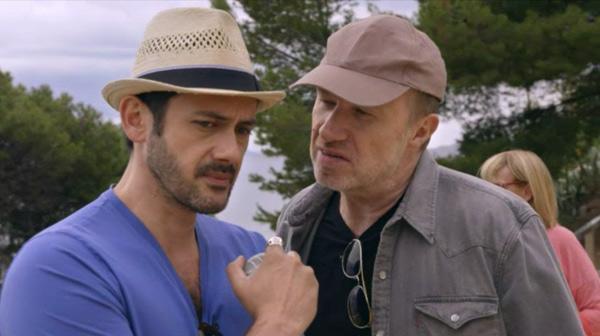 Le duo comique Francesco et léo à la pétanque