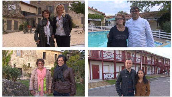 les couples de Bienvenue à l'hôtel de TF1 la semaine du 22/08/2016 et leurs adresses