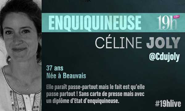 Vos avis et commentaires sur Celine Joly dans le 19h Live : sa biographie !