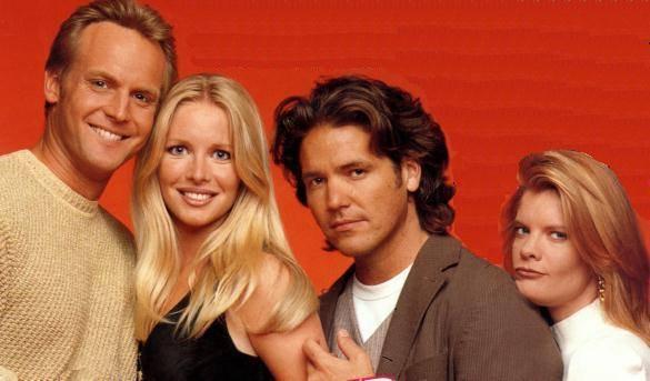 Danny accompagné de Cricket, Paul et Phyllis dans les feux de l'amour