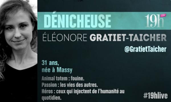 Vos commentaires sur Eleonore Gratiet Taicher du 19H Live de TF1
