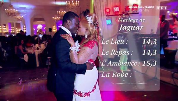 Les notes de Jaguar dans 4 mariages pour 1 lune de miel : la gagnante du jour !