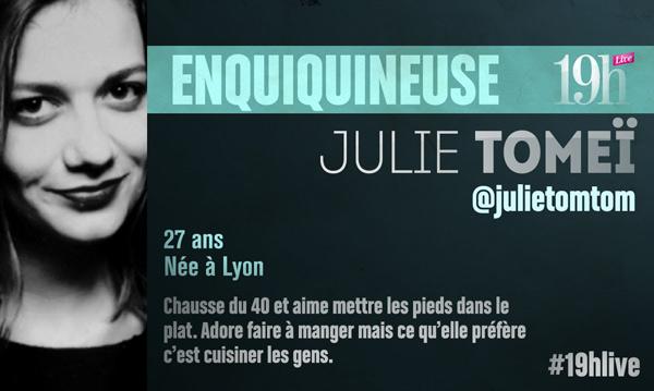 Vos avis sur Julie Tomei dans 19h Live sur TF1