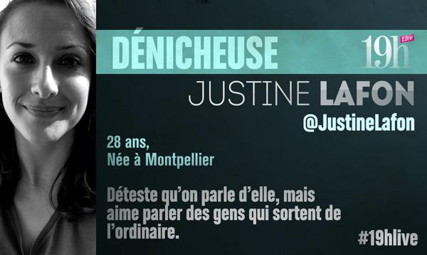 Vos commentaires et réactions sur le 19h Live avec  Justine Lafon