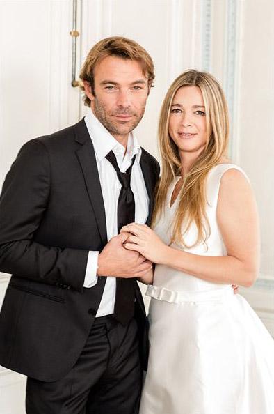 Patrick Puydebat en smoking avec Helene dans les mystères de l'amour saison 3 en 2012
