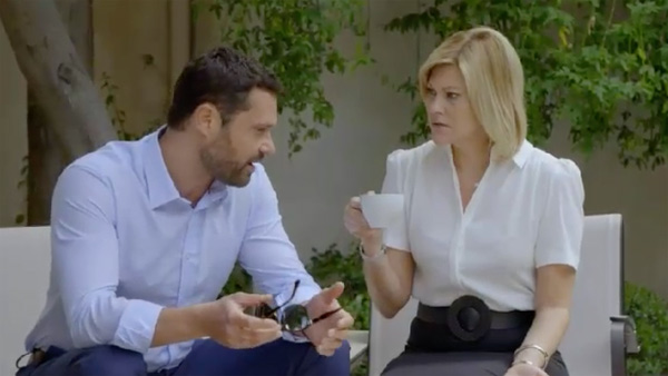Arnaud et Claire manigancent contre les Belesta