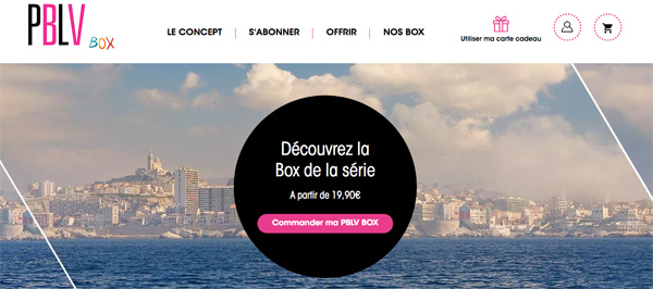 Inscription pour la PBLV Box : le coffret surprises de Plus belle la vie