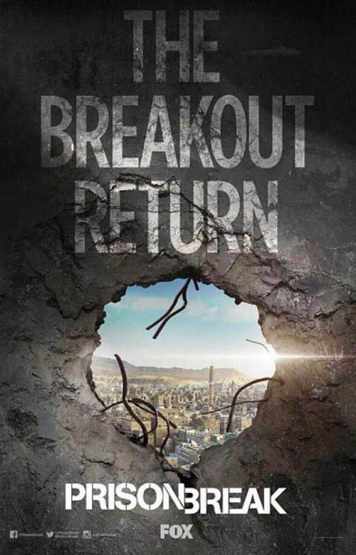 Le poster promo de Prison Break saison 5  mais la date de diffusion exacte pas encore connue