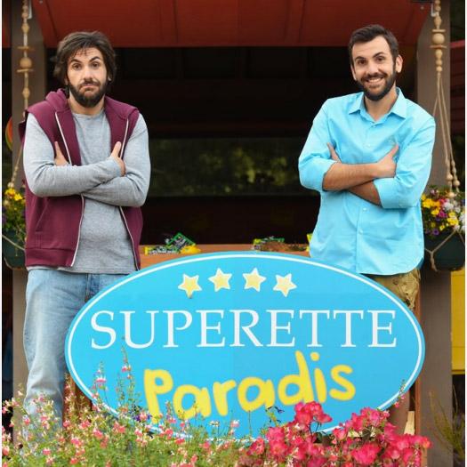 Laurent Ournac et son sosie dans Camping Paradis le 30/08/2016
