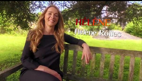 Hélène dans un cadre romantique sur un banc pour le générique 2016-2017 des mystères de l'amour
