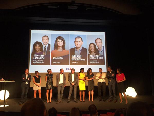 Les équipes week end de LCI / Photo twitter Conférence de presse LCI
