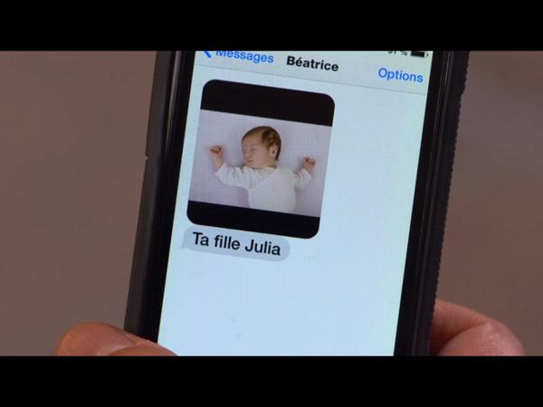 Le SMS de béatrice à José sur Julia sa fille
