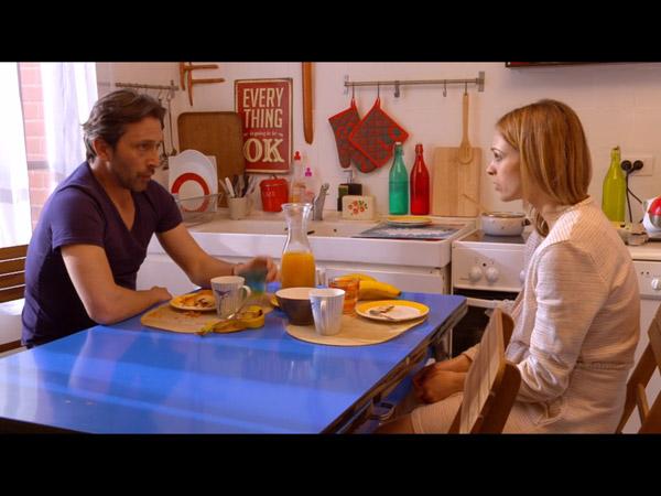 Christian et Chloé au petit déj ... attendant que Mélanie sorte de la salle de bain