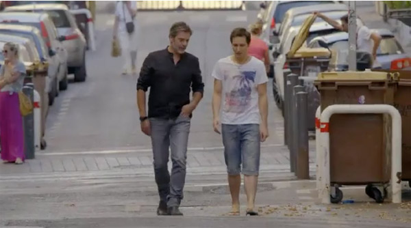 Sacha avec son fils Jonas
