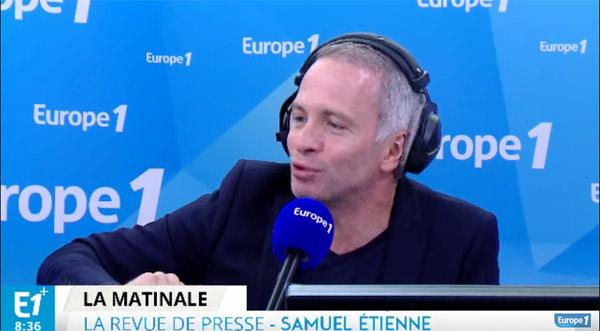 Le réveil de Samuel Etienne avec Europe 1 Bonjour à la rentrée 2016