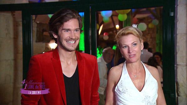 Elisabeth avec Amaury Vassili dans 4 mariages pour 1 lune de miel / Photo TF1