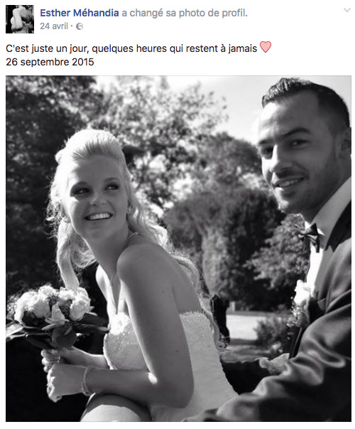 Esther et Salah toujours ensemble... photo de mariage / Photo Facebook