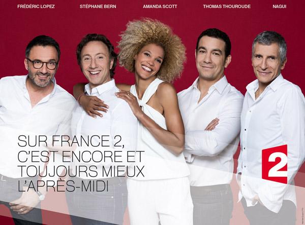 Nouvelle grille des après midi France 2 de 14h à 18H30 : vous aimez ?