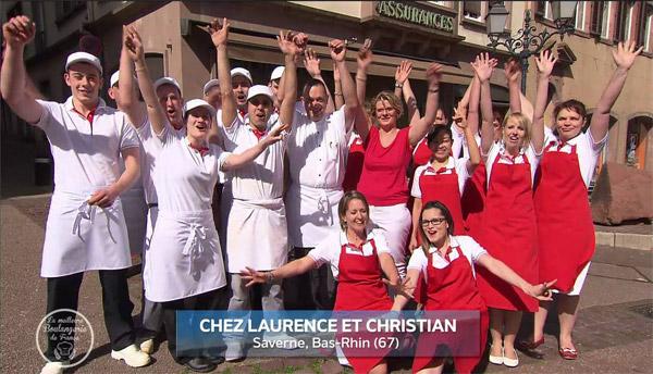 Laurence et gagnants la meilleure boulangerie de france 2016 Alsace lorraine