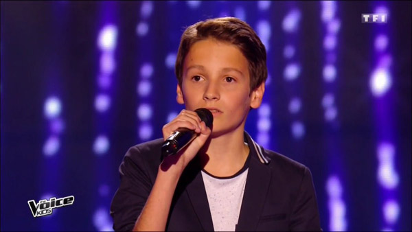 Matthieu le showman dans The voice Kids saison 3