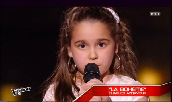 Manuela en finale The voice kids le 08/10/2016